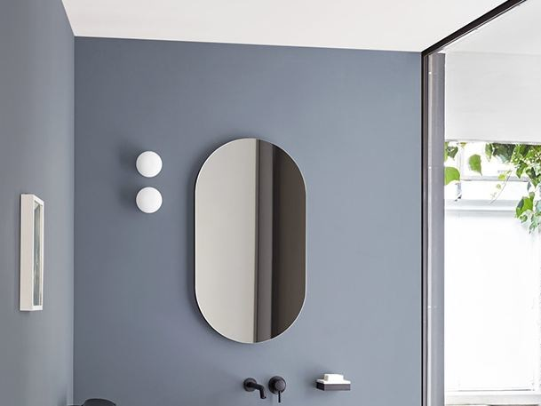 Oval wall-mounted bathroom mirror I CATINI | Oval mirror - Ceramica Cielo