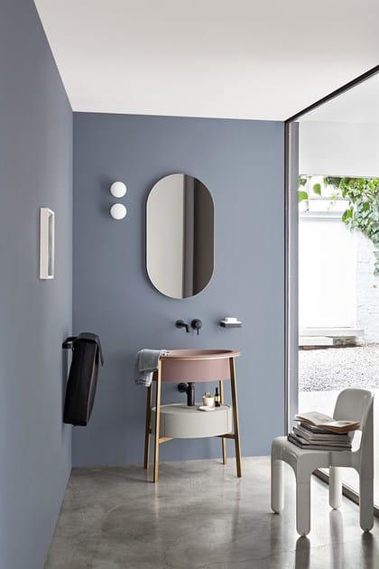 Specchio ovale a parete per bagno i catini specchio ovale ceramica cielo - Repeindre sa baignoire ...
