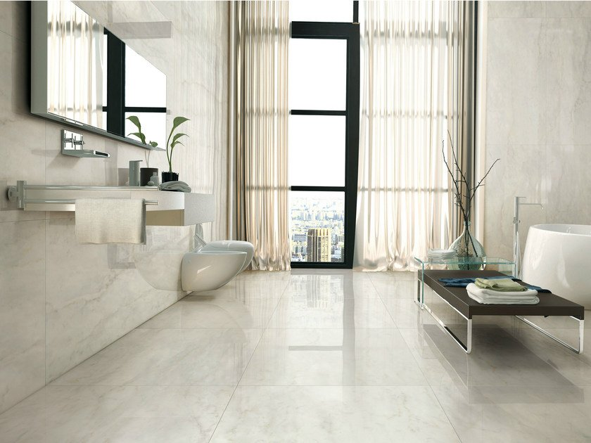 Porcelain stoneware wall/floor tiles with marble effect I MARMI BIANCO BERNINI - AVA Ceramica by La Fabbrica