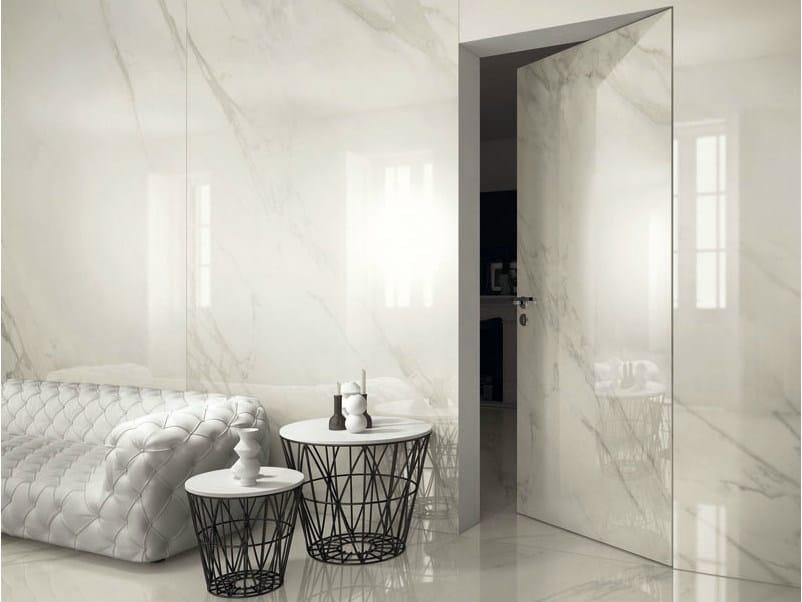 Pavimento rivestimento in gres porcellanato effetto marmo i marmi calacatta ava ceramica - Rivestimento bagno effetto marmo ...