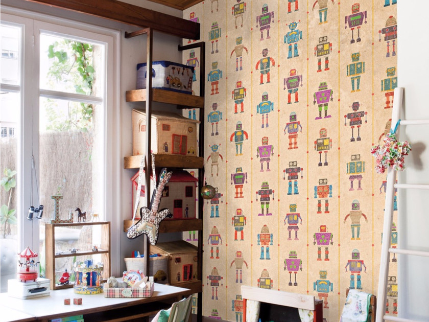 Motif stone effect panoramic wallpaper I ROBOT - Inkiostro Bianco