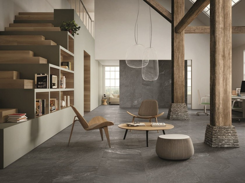 Porcelain stoneware wall/floor tiles with stone effect INNER LAKE by Ceramiche Caesar