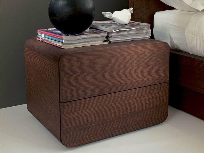 Square wooden bedside table ICARO | Bedside table - Fimar