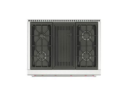 Gas built-in stainless steel hob with grill ICBSRT364G | Hob with grill - Sub-Zero Group