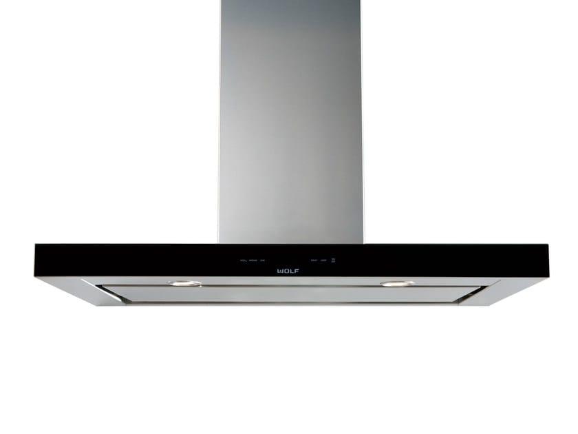 Cappa a schermo piatto in acciaio inox con illuminazione integrata ICBVW 30/36/45 B   Cappa a parete by Sub-Zero