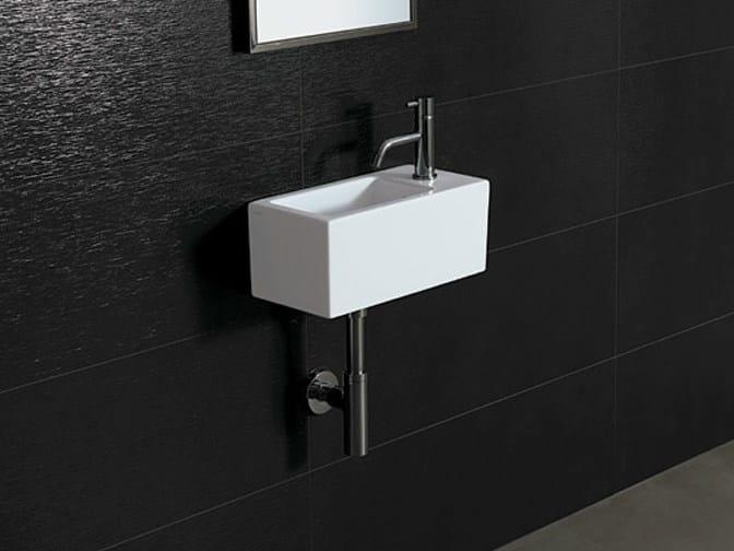 Rectangular ceramic washbasin ICE 40X20 - Alice Ceramica