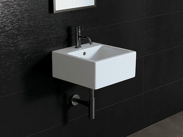 Square ceramic washbasin ICE 40X40 - Alice Ceramica