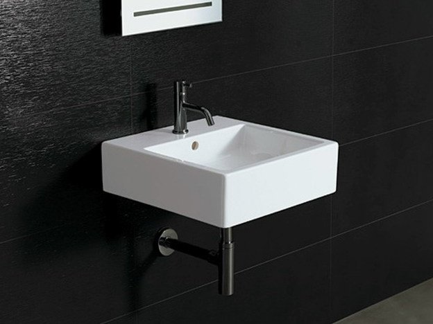 Square ceramic washbasin ICE 46X46 - Alice Ceramica