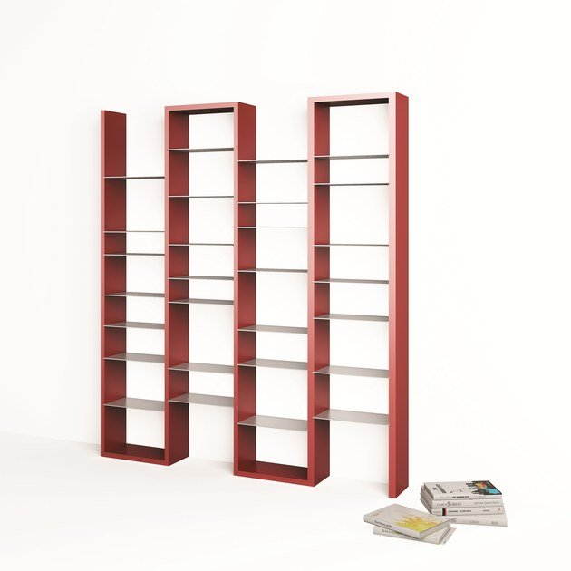 Lacquered modular MDF bookcase ICE by ARKOF LABODESIGN