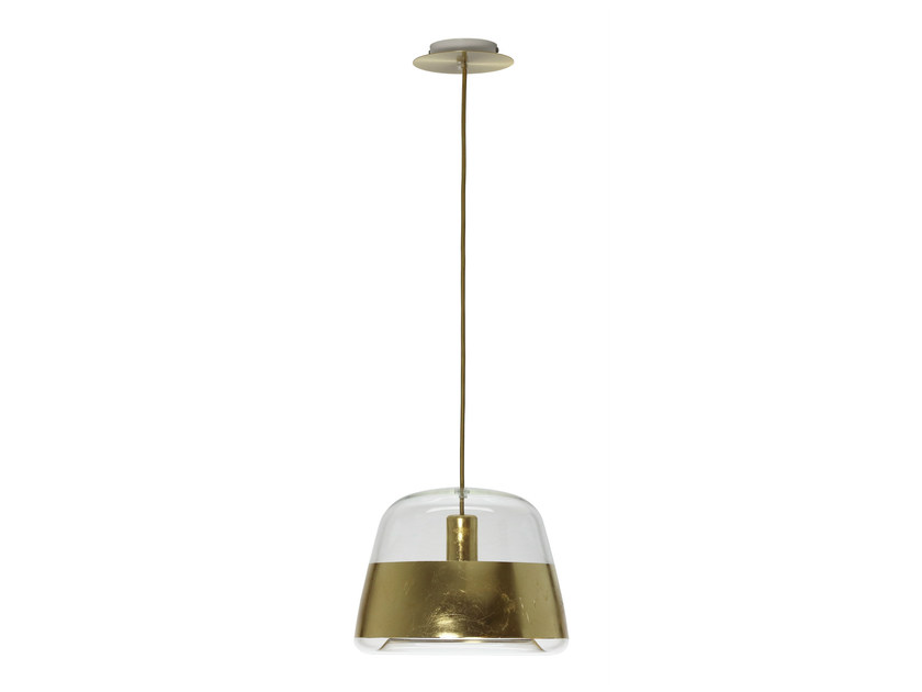 LED glass pendant lamp ICE CHIC GOLD - Hind Rabii