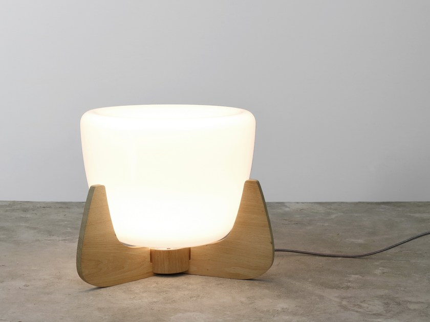 Opal glass table lamp ICE DEVOTION by Hind Rabii
