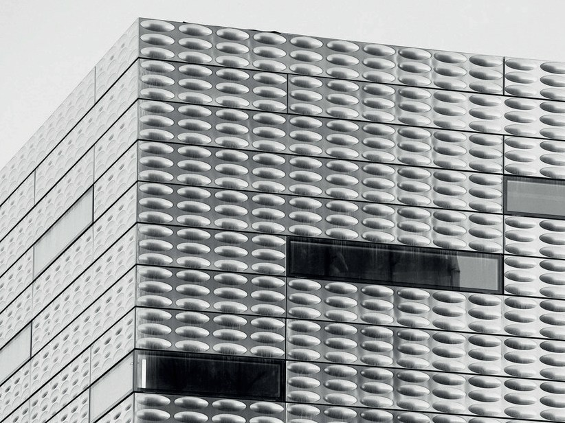 Metal sheet and panel for facade ICE by GATTI PRECORVI