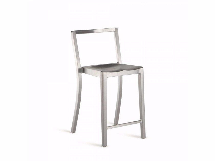 Stackable aluminium counter stool ICON | Counter stool - Emeco