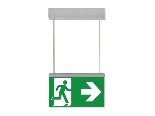 LED suspended emergency light for signage IKUS-S by DAISALUX