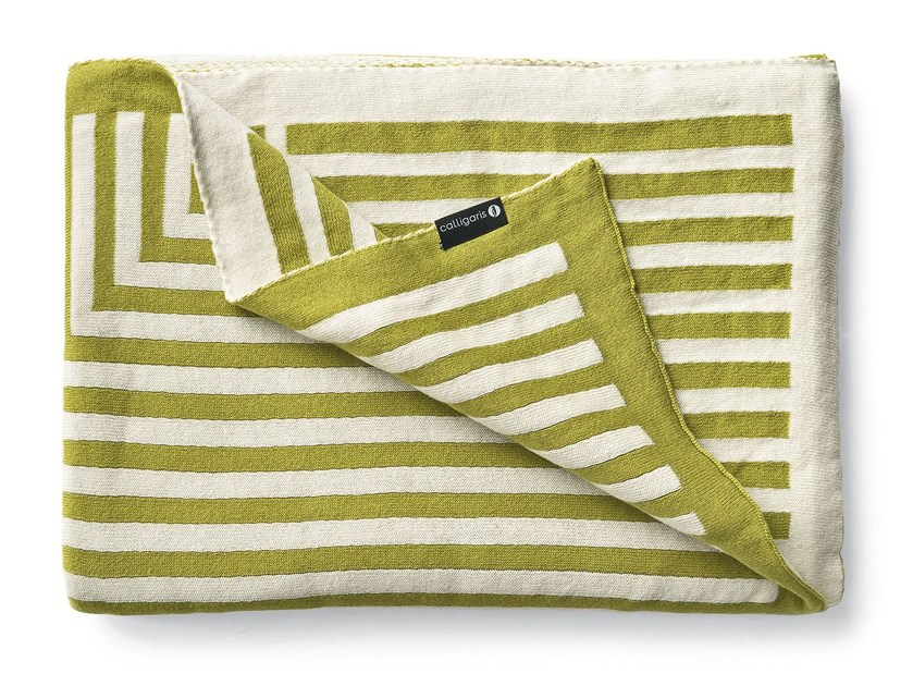 Striped cotton blanket ILLUSION by Calligaris