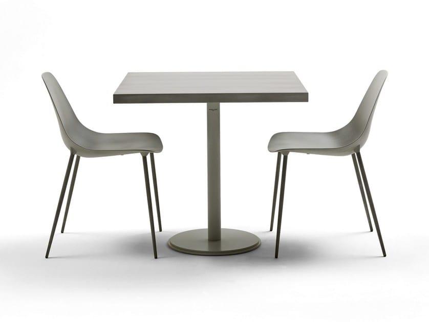 Tavolo quadrato in acciaio ILTAVOLO CAFFÉ - Opinion Ciatti