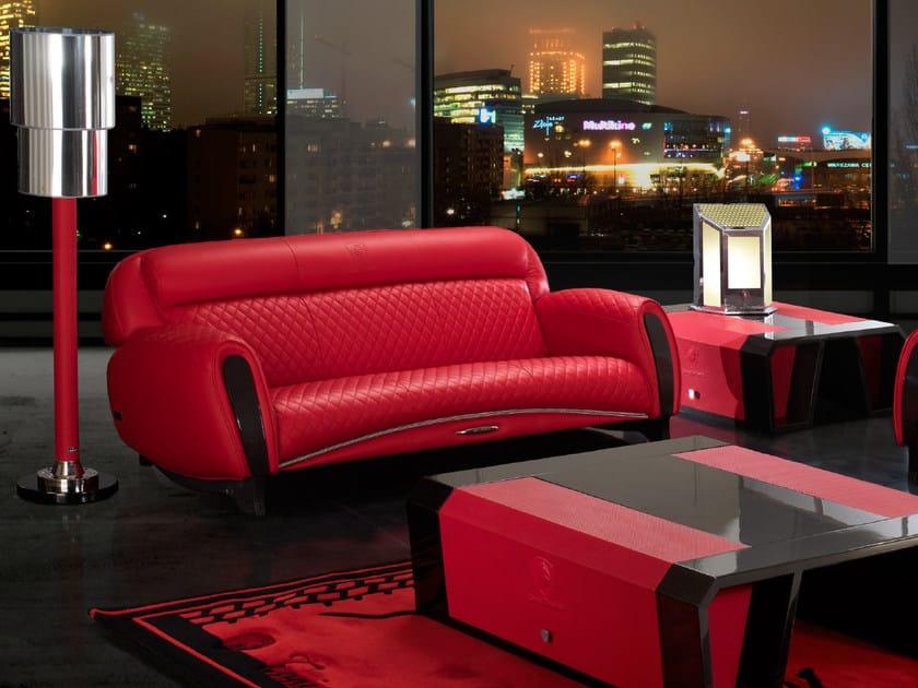 Upholstered 3 seater leather sofa IMOLA CARBON | 3 seater sofa - Tonino Lamborghini Casa