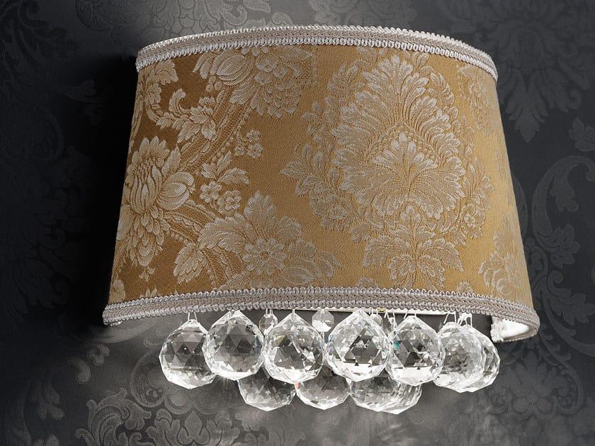 Applique a luce diretta incandescente in tessuto con cristalli IMPERO VE 1180 | Applique - Masiero