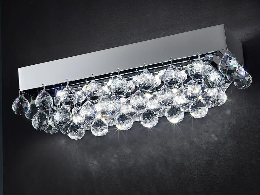 Lampada da soffitto a LED a luce diretta in metallo con cristalli IMPERO VE 809 | Lampada da soffitto - Masiero