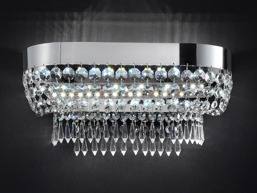 Applique a luce diretta in metallo con cristalli IMPERO VE 813 | Applique - Masiero