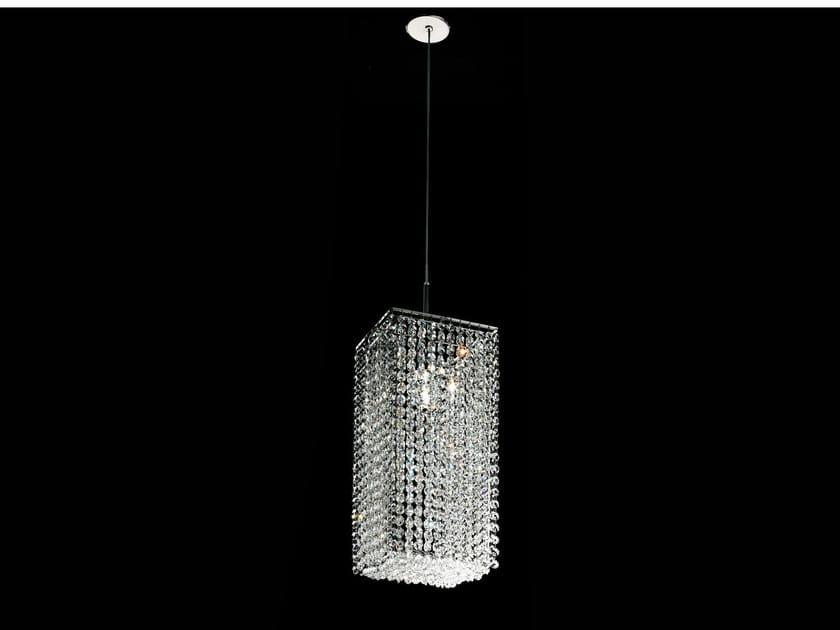 Lampada a sospensione a luce diretta incandescente in metallo in stile classico con cristalli IMPERO VE 848 - Masiero