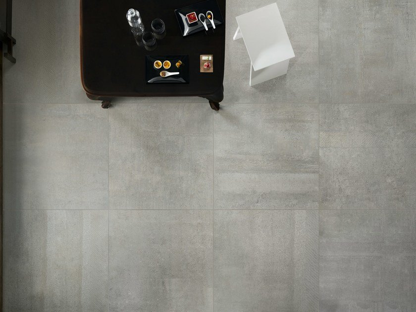 Porcelain stoneware wall/floor tiles with concrete effect IMPRESS GRIGIO - ASTOR CERAMICHE