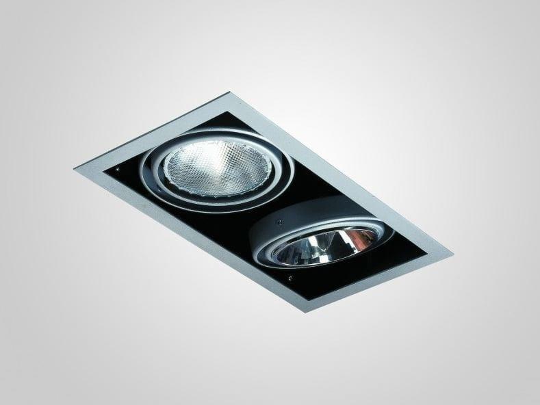 Adjustable recessed painted metal spotlight INCAS SPOT | Rectangular spotlight by LUCIFERO'S