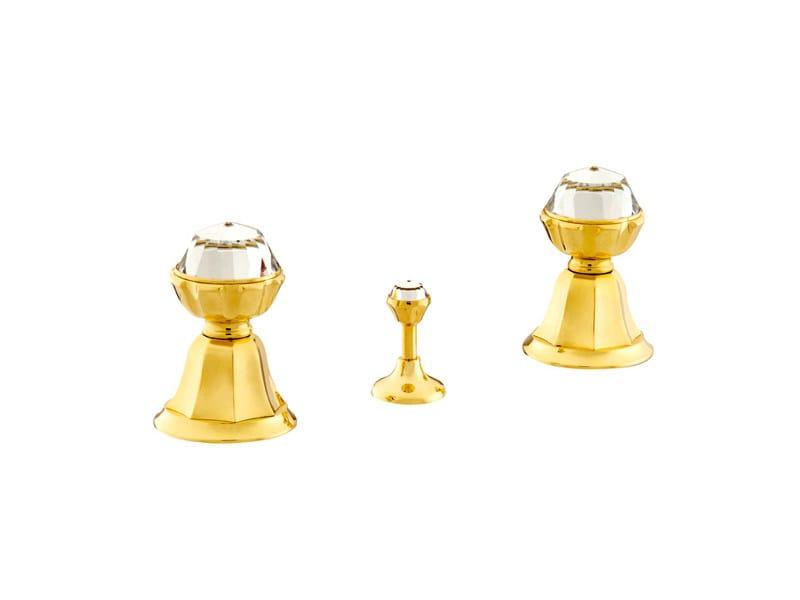 3 hole bidet tap with Swarovski® crystals INDICA | 3 hole bidet tap - Bronces Mestre