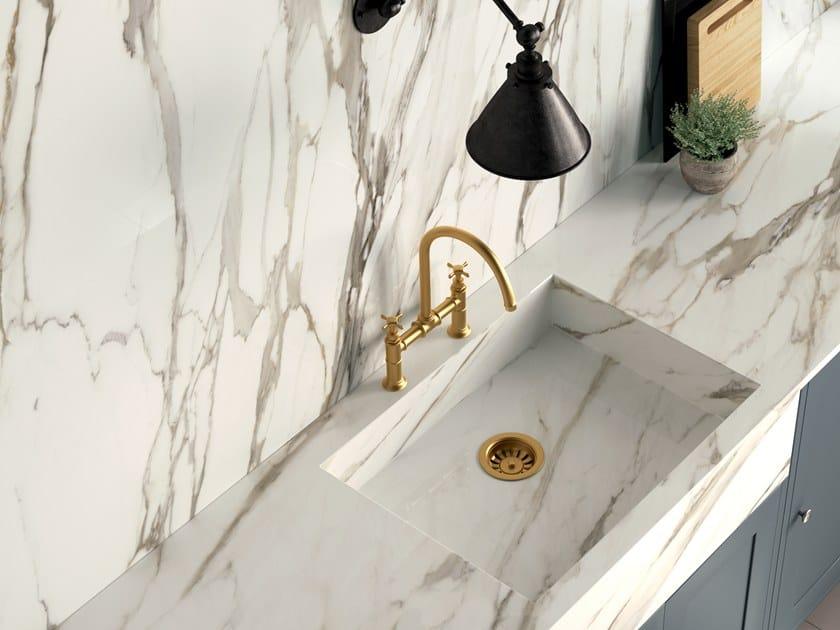 Top cucina in gres porcellanato effetto marmo infinito 2 0 - Top cucina ceramica prezzi ...