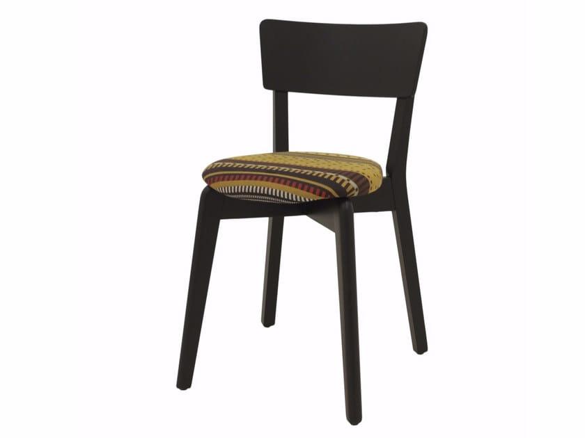 Sedia imbottita impilabile in tessuto INGRID 03 ST - Z-Editions