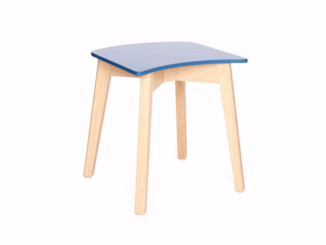 Low wooden stool INGRID K 47 - Z-Editions