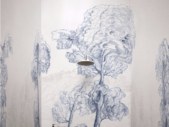 Waterproof landscape glass-fibre wallpaper INNER FOREST - Wall&decò