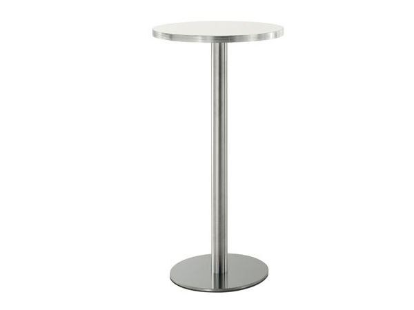 Round high table INOX | High table by PEDRALI