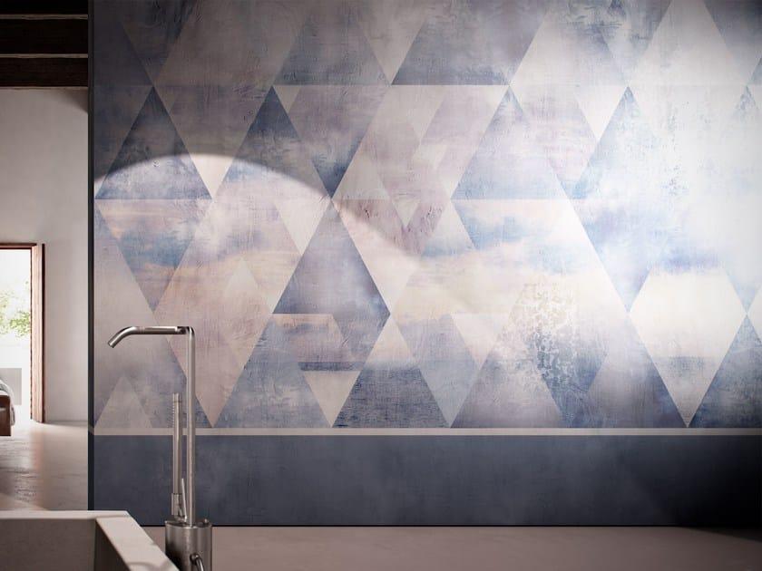Geometric washable vinyl wallpaper INTARSIO - GLAMORA