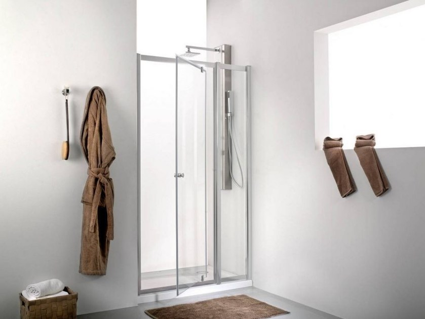 Rectangular shower cabin with pivot door INTER 2+ - Systempool