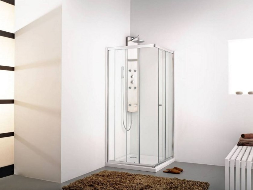 Corner glass shower cabin INTER 4 - Systempool