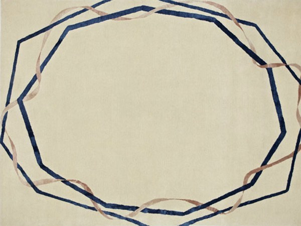 Handmade rectangular rug INTERTWINE by Deirdre Dyson