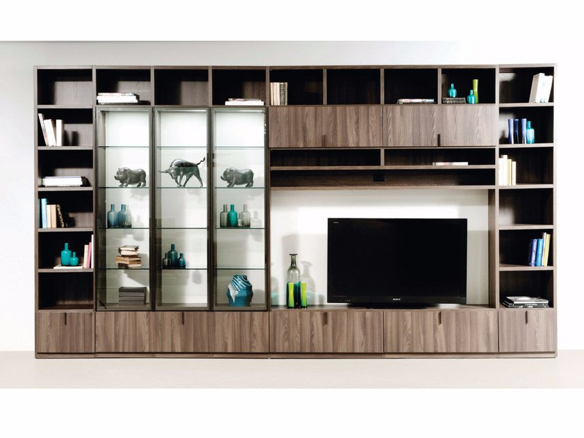 Sectional TV wall system INTRALATINA 201510-B by ROCHE BOBOIS