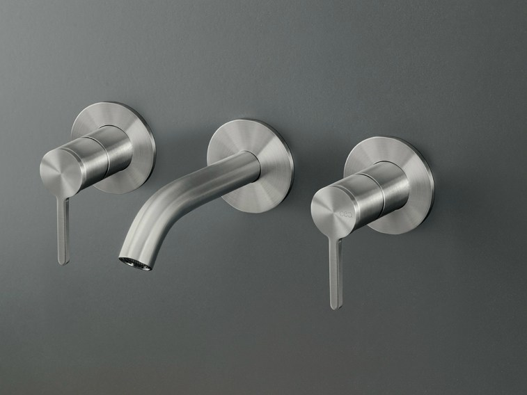 Wall mounted set of 2 individual taps with spout INV 30 by Ceadesign