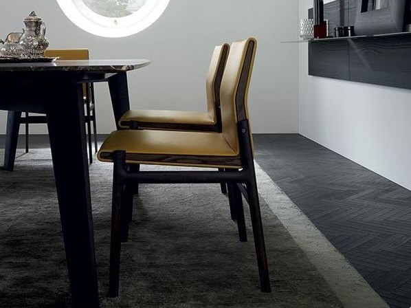Upholstered leather chair IPANEMA | Chair by poliform
