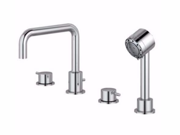 4 hole bathtub set with hand shower IQ - A4823 - Ideal Standard Italia