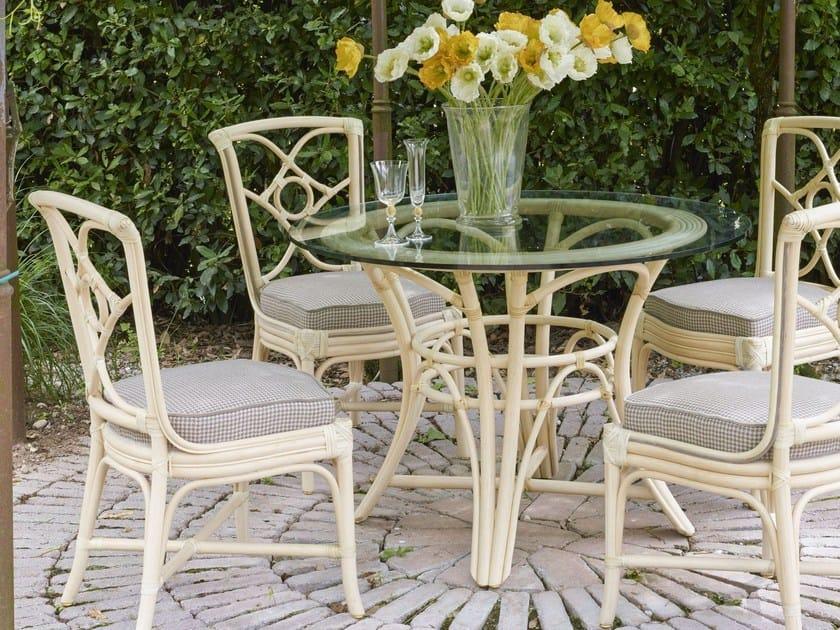 Irene garden table in rattan