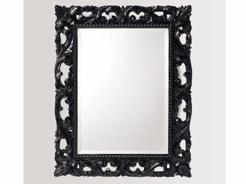 Rectangular wall-mounted framed mirror IRIS - BATH&BATH
