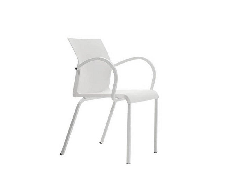 Stackable polypropylene chair with armrests IRON S0945 B - Segis