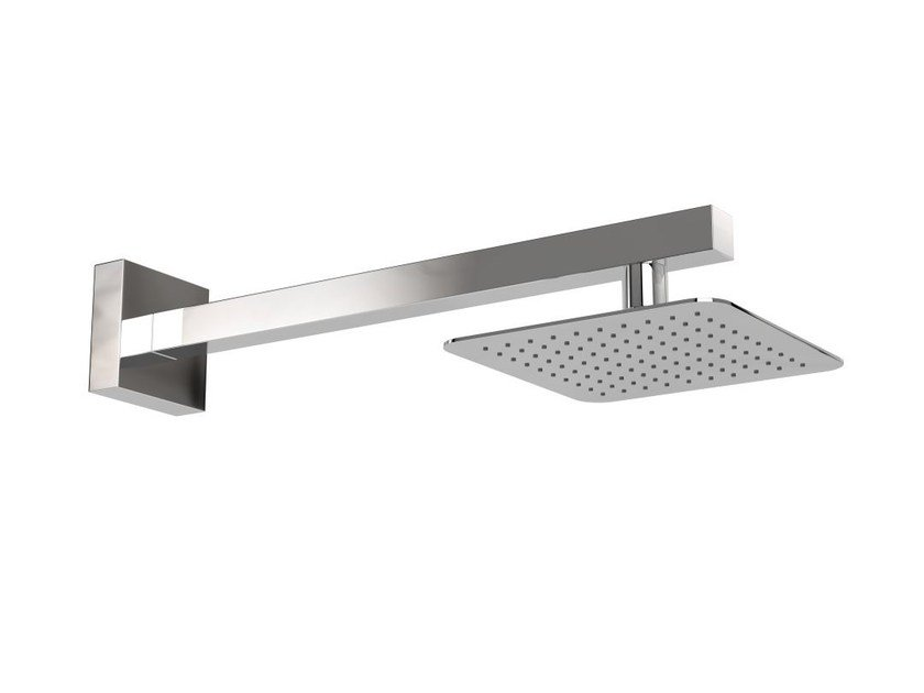 Wall-mounted stainless steel outdoor shower ISCHIA Q - Inoxstyle