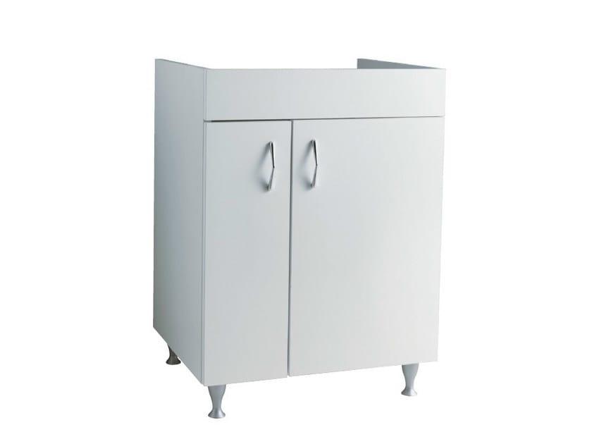 Wooden vanity unit with doors ISEO | Vanity unit - Alice Ceramica