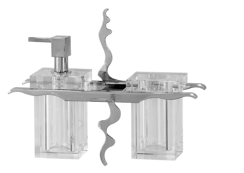 Glass liquid soap dispenser / toothbrush holder ISIDO - LINEAG