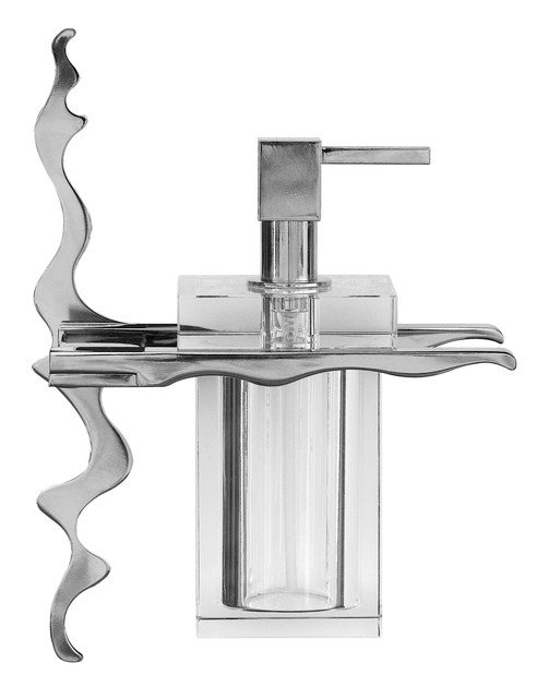 Wall-mounted glass liquid soap dispenser ISIDO | Wall-mounted liquid soap dispenser - LINEAG