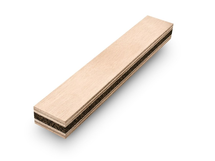 Anti-vibration bars made with Plywood and rubber-cork core ISO-T bars - BELLOTTI