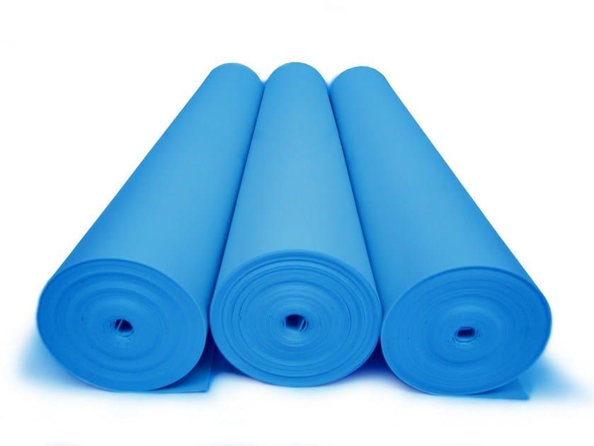 Polyethylene Impact insulation system ISOLDRUM ST BLU - Isolmant - TECNASFALTI